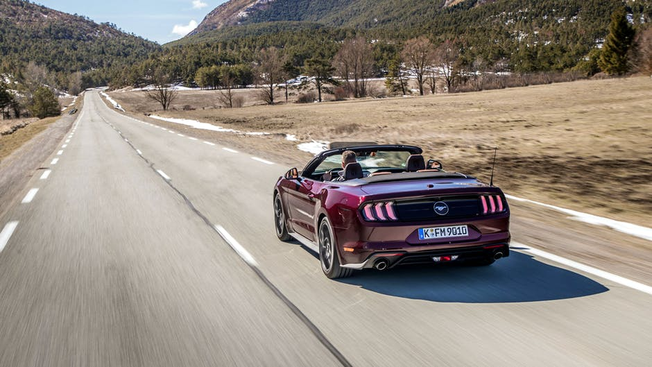 2018 Ford Mustang GT in Royal Crimson on Route Napoleon