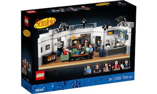 The box art for the LEGO Seinfeld set