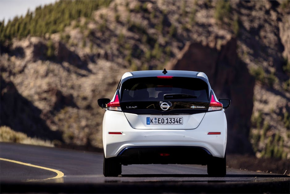 2018 Nissan Leaf from the rear