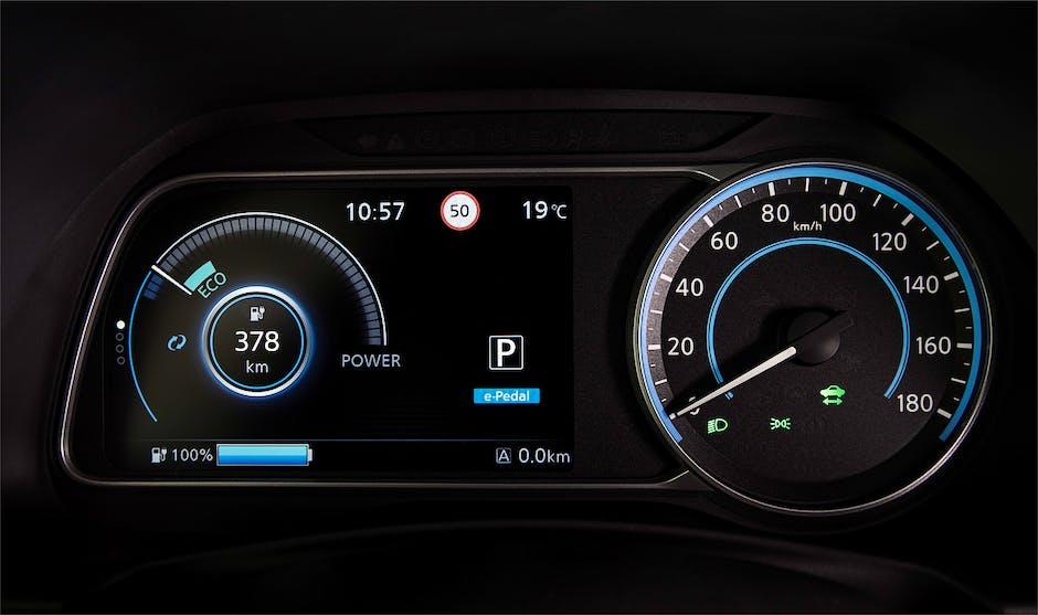 2018 Nissan Leaf TFT digital dials