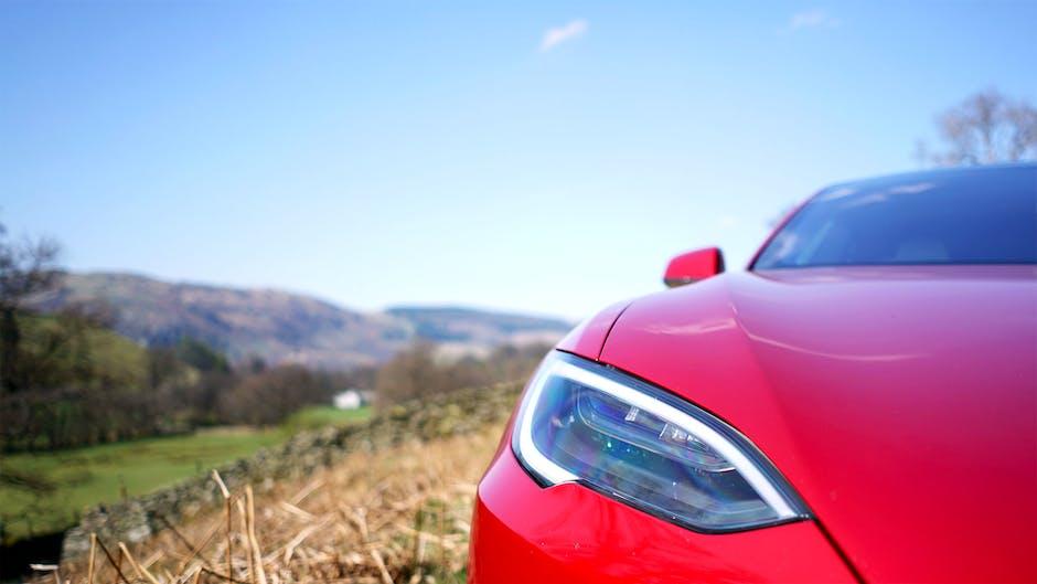 Tesla Model S 100D bonnet and front lights