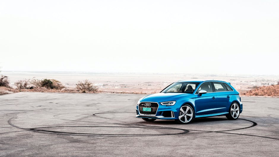 Audi RS 3 Sportback in the middle of nowhere