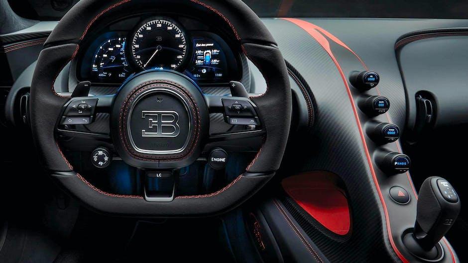 Bugatti Chiron Sport at the 2018 Geneva Motor Show (cockpit interior)
