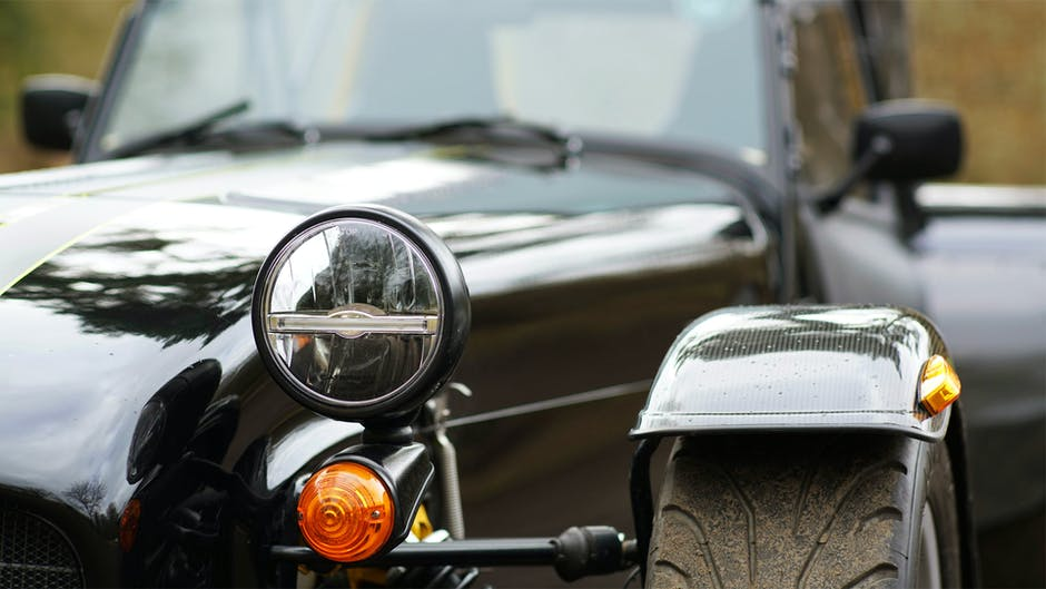 Caterham 310R review (front lights and bonnet)