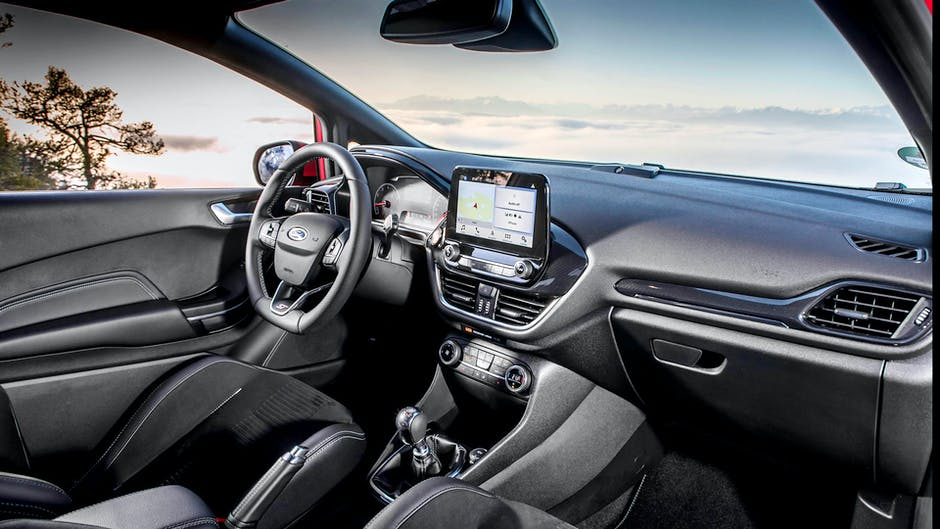 Ford Fiesta ST review (2018): Interior view and infotainment system