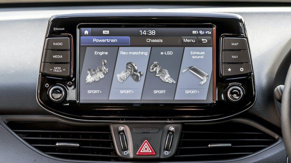Hyundai i30 N Performance custom menu settings