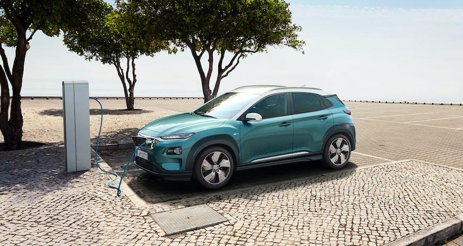 Hyundai Kona Electric charging station