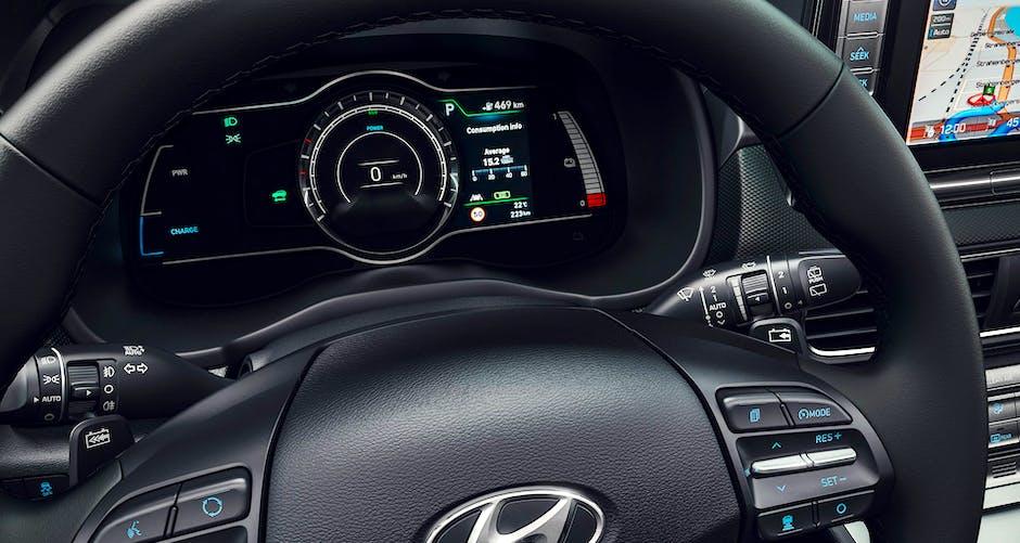 Hyundai Kona Electric dashboard