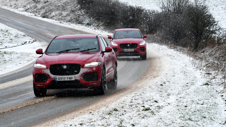 Red cats: F-Pace S vs E-Pace P300 in North Wales