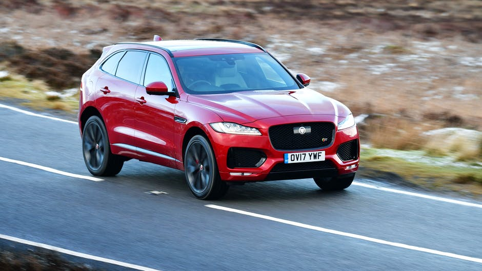 A red Jaguar F-Pace in full attack mode