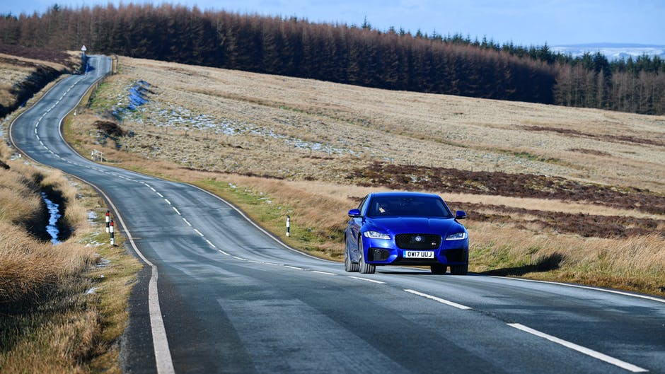 Jaguar XF S in North Wales