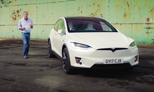 Jeremy Clarkson Tesla Model X review on The Grand Tour show