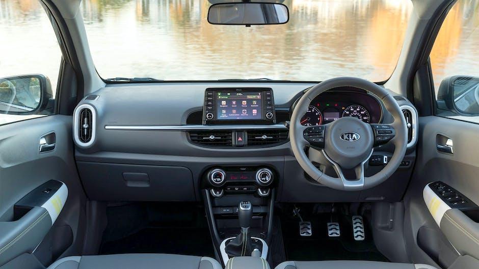 Kia Picanto X-Line interior with Apple CarPlay and Android Auto