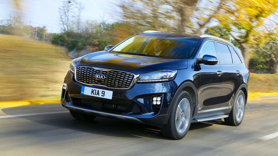 Kia Sorento GT-Line S on the road