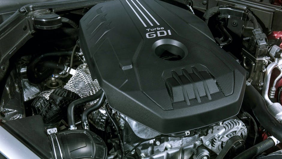 Kia Stinger T-GDi engine bay