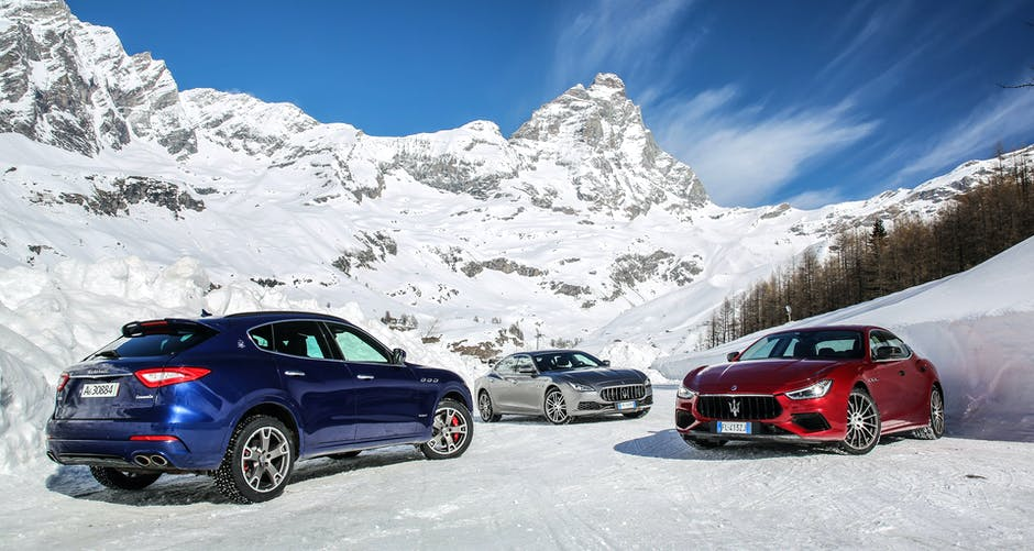 The Maserati range: Levante, Ghibli, Quattroporte