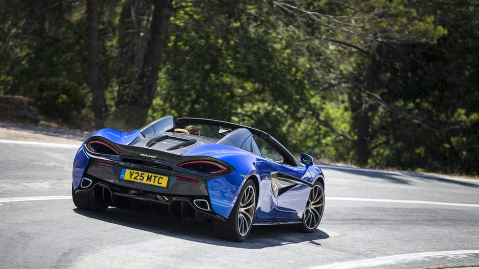 McLaren 570S rear view and rear lights