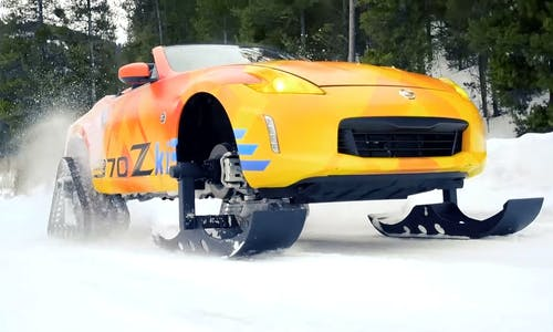 Nissan 370Z Snowmobile '370Zki'