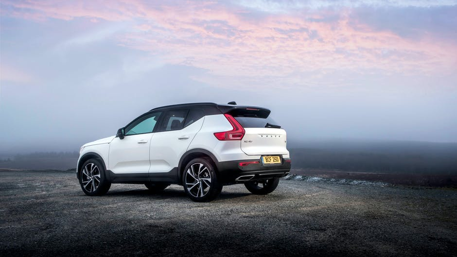 Volvo XC40 SUV from the rear